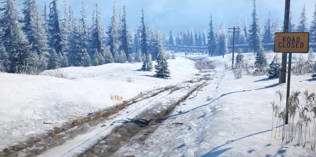 Дорога на Аляске в игре Сноураннер