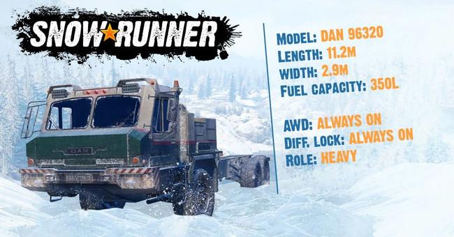 Технические характеристики DAN 96320 в SnowRunner