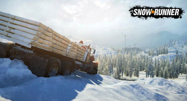 Фото грузовика с грузом в игре Сноураннер