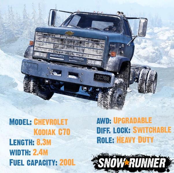 Технические характеристики Chevrolet Kodiak C70