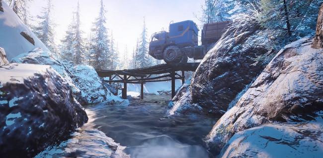 Скриншот с Аляски из игры SnowRunner