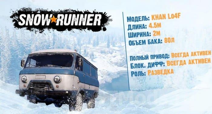 Характеристики машины Khan Lo4F в SnowRunner