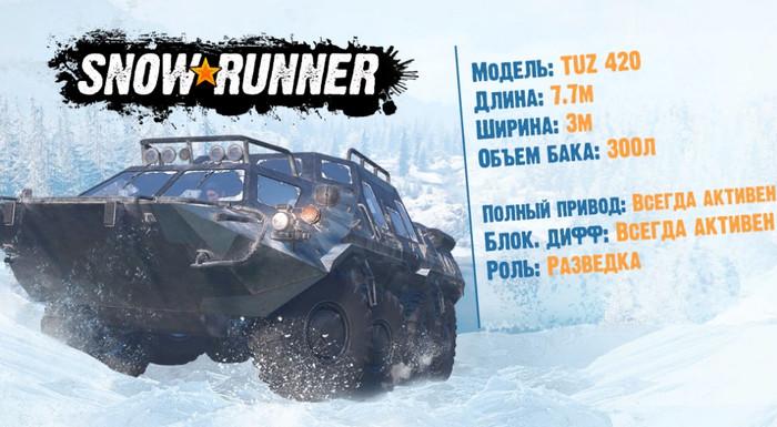 Характеристики TUZ 420 в игре SnowRunner
