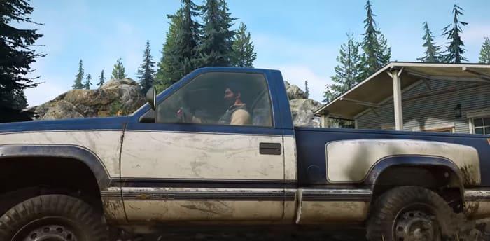 Фото левой части Chevrolet CK 1500 в игре SnowRunner на бездорожье