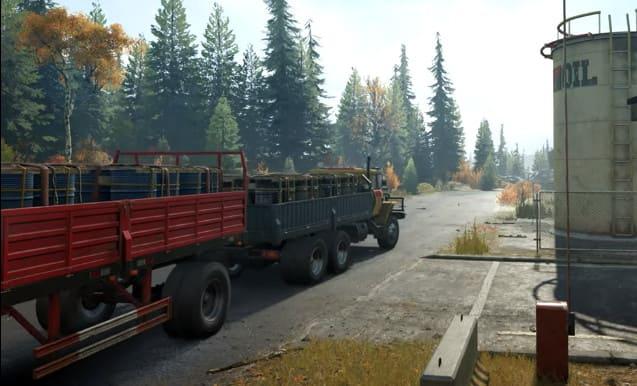 Фото Western Star 6900 TwinSteer в игре как тащит прицепы с бочками