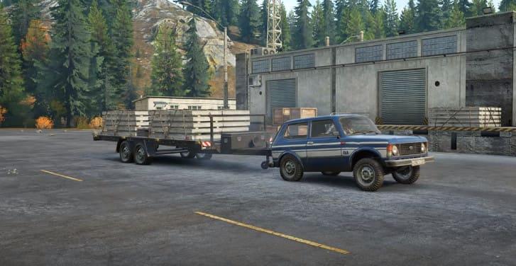 Фото прицепа для нивы в игре SnowRunner