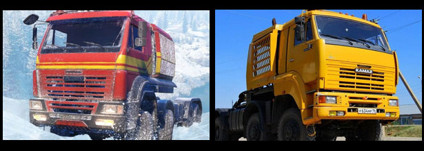 Сравнение игровой машины в SnowRunner и настоящего Камаза