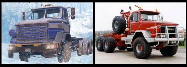 Фото игрового и настоящего грузовика