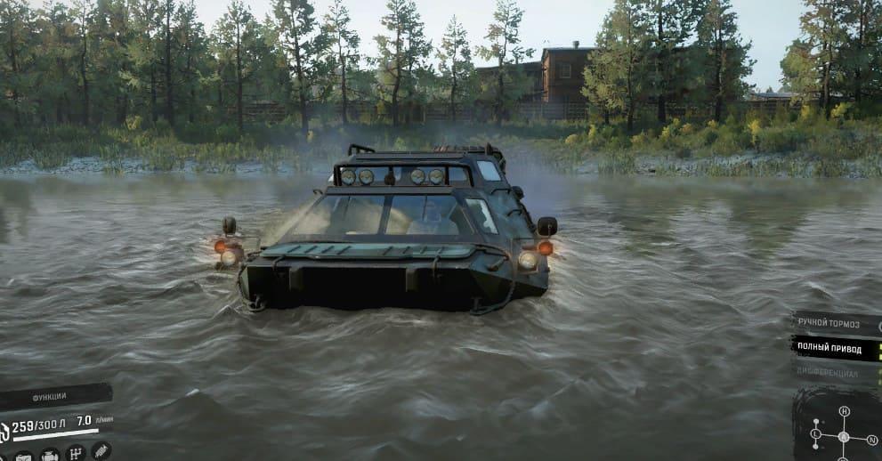Плавающий tuz-420 в SnowRunner