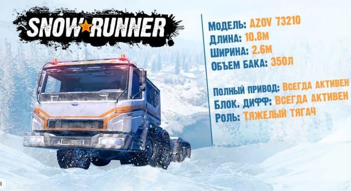 Фото и характеристики в игре SnowRunner