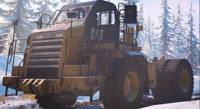 Caterpillar 772G из игры SnowRunner