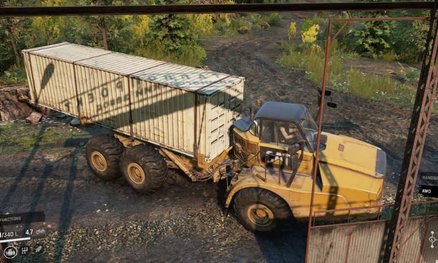 CAT 745C контейнеровоз