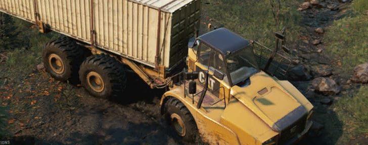 CAT 745C для перевозки негабаритных грузов