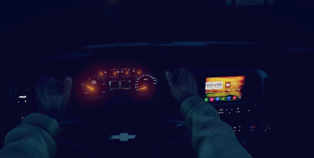 Chevrolet Duramax Roro вид от лица водителя