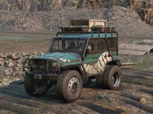 Скриншот из игры Сноураннер Emils khan 39 marshall обзорный ракурс машины.