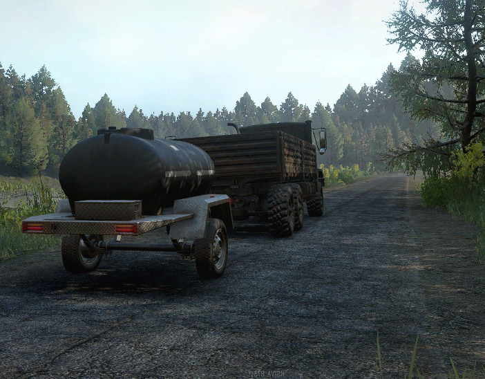 Цистерна на прицепе для грузовиков