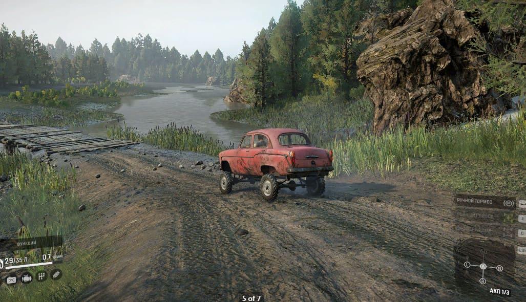 Москвич 410 красный в SnowRunner