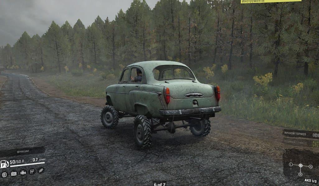 Москвич 410 в SnowRunner фото сзади