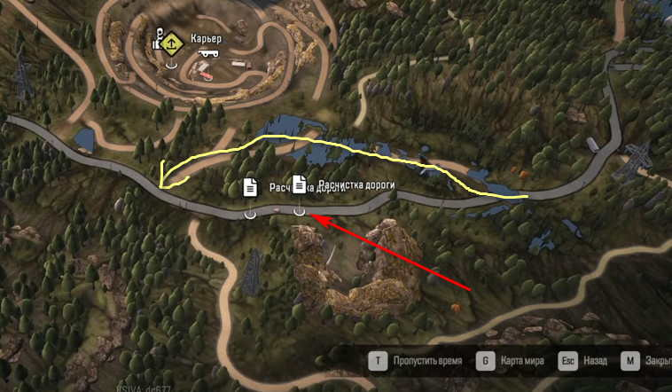 Расчистка дороги в SnowRunner и вариант объезда