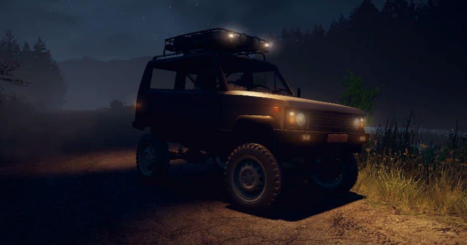 УАЗ-3170 Terra в SnowRunner фото ночью