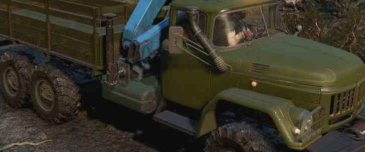 Скриншот из игры Сноураннер Zil131 вид сбоку машины.