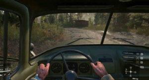 Вид из кабины игрового ЗИЛ 131М