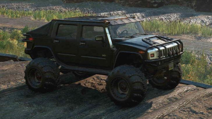 Скриншот из игры Сноураннер Hummer H2 Emils боковой вид машины.