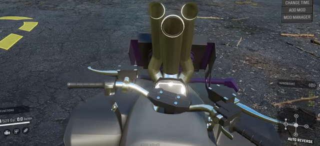 Вид от первого лица на Квадроцикл Frog's Can Am Renegade