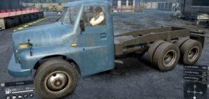 Скриншот из игры Сноураннер вид с боку TATRA 148