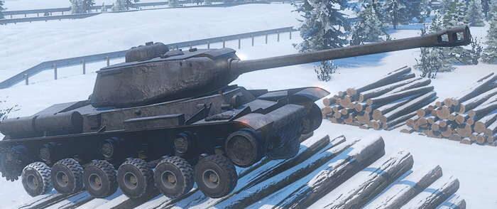 Фото модификации танка ИС 2 в игре SnowRunner
