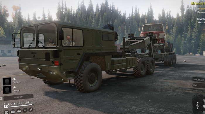 Скриншот из игры Сноураннер MAN SX44 6x6 (KAT) обзор машины