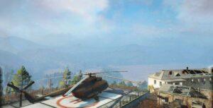 Пустыня Кодара с вертолетной площадкой