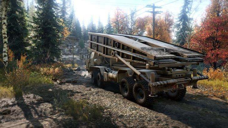 Скриншот из игры Сноураннер RNG TX Bridge Layer обзор машины.