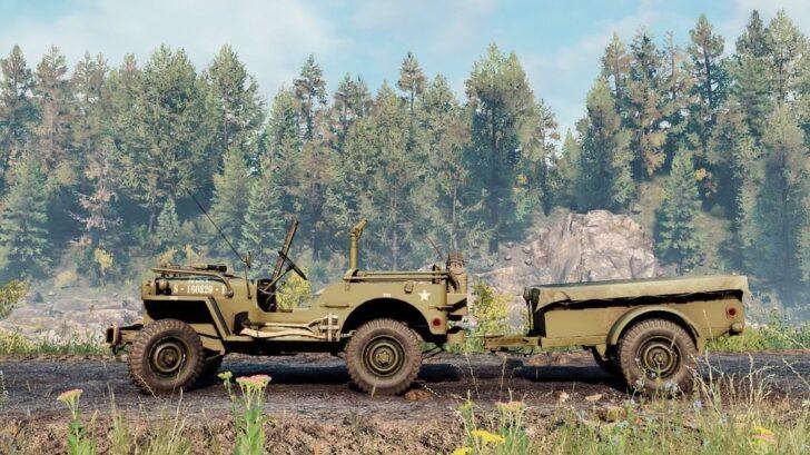 Скриншот из игры Сноураннер Willys MB 1942 обзор машины.