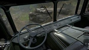 Шишига (ГАЗ-66) Вид в кабине
