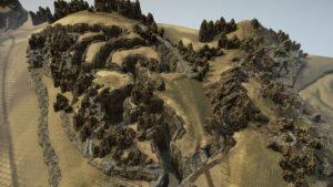 Карта Черные пески Через скалистую гору