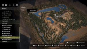 Национальный парк Секвойя Вид карты